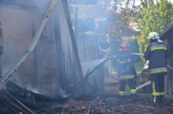 Visegrádi önkéntes tűzoltók is oltották a lángokat