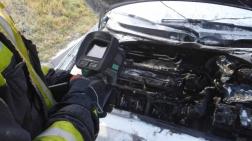 A tűzoltók hőkamera segítségével vizsgálták át az autót