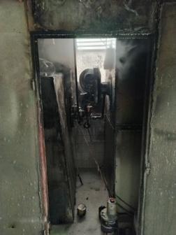 Az oltást követően az egységek átvizsgálták az épületet