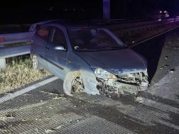 Vaddal ütközött kettő személygépkocsi az M7-es autópályán