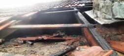 az oltás miatt megbontott tetőszerkezet